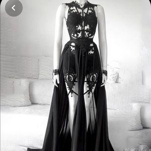 Women's Halloween Costume Retro Black Dress